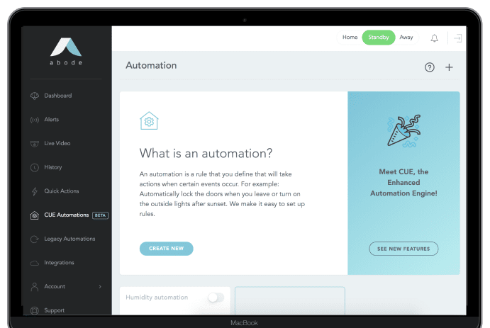 CUE Home Automation Engine - Make Your Home Work For You - abode