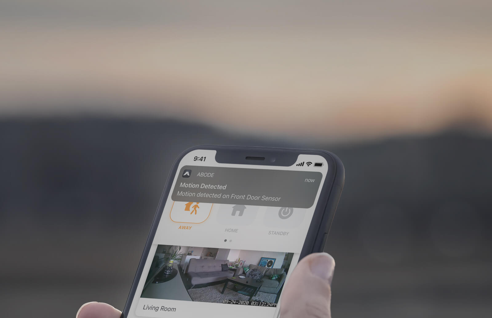 Self-Monitoring with abode banner