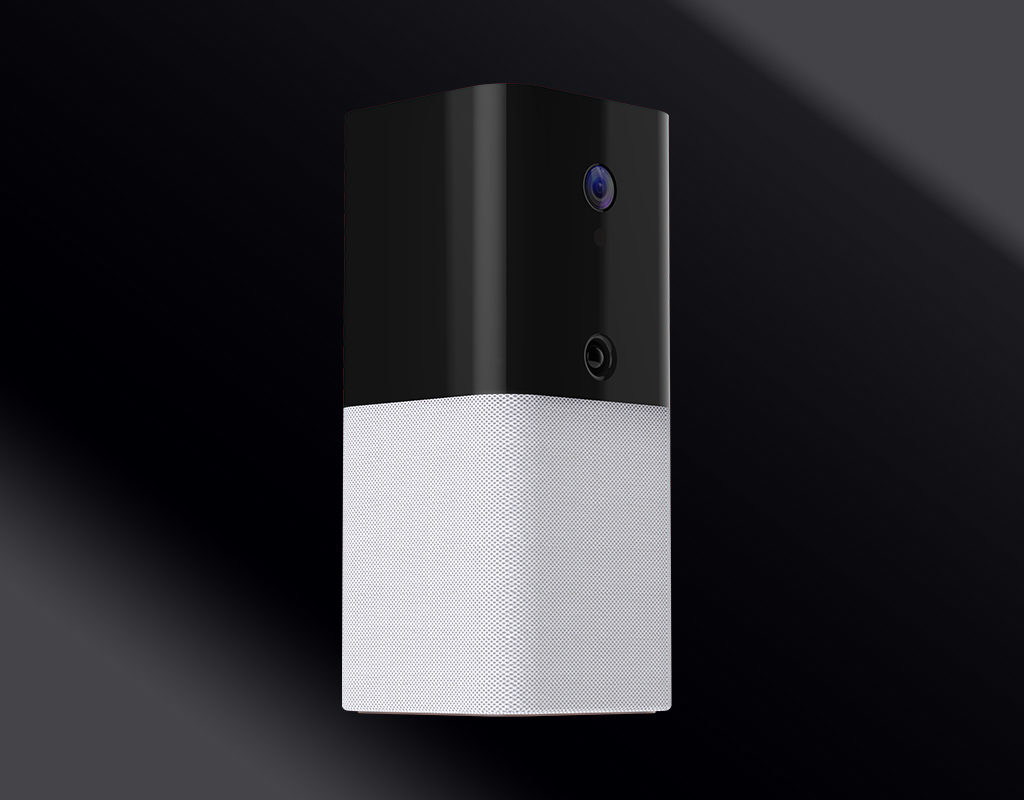 iota all-in-one security device on a black background